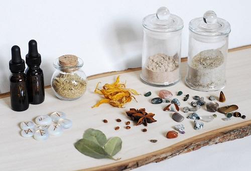 Ingredientes de una botella de bruja