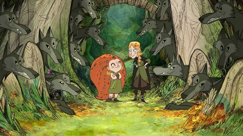 Wolfwalkers y niña